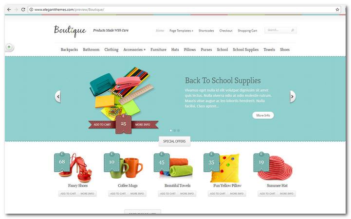 Boutique WordPress commerce Theme