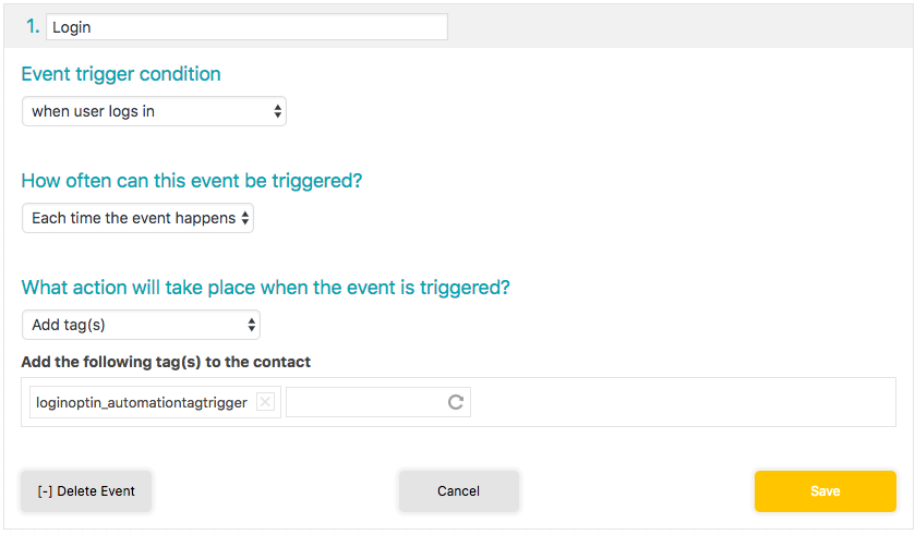 This automated event fires when a student triggers it.